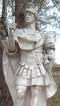 Estatua de Eneko Aritza (770-852), primer Rey de Pamplona
