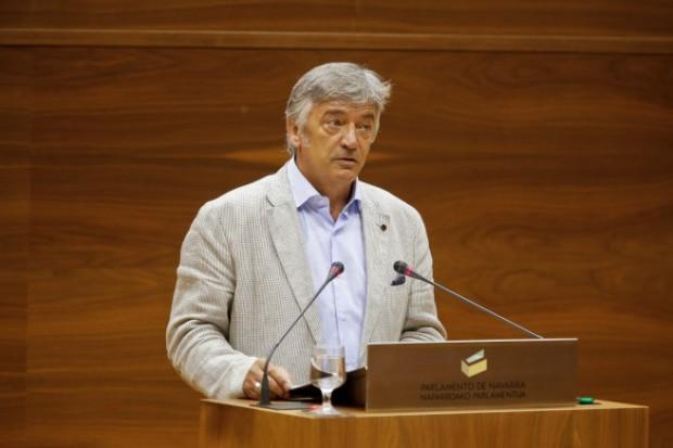 Koldo Martínez, en el Parlamento de Navarra. Fuente: Geroa Bai